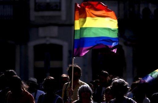 Un drapeau arc-en-ciel, l'un des symboles de la communauté gay. AFP/Archives Patricia de Melo Moreira