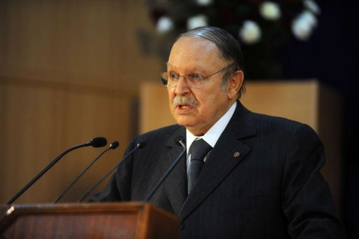 Le président algérien Abdelaziz Bouteflika, le 14 décembre 2011 à Laghouat AFP Farouk Batiche