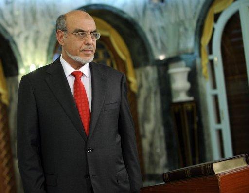 Le chef du gouvernement tunisien, l'islamiste Hamadi Jebali, le 24 décembre 2011 à Tunis AFP/Archives Fethi Belaid