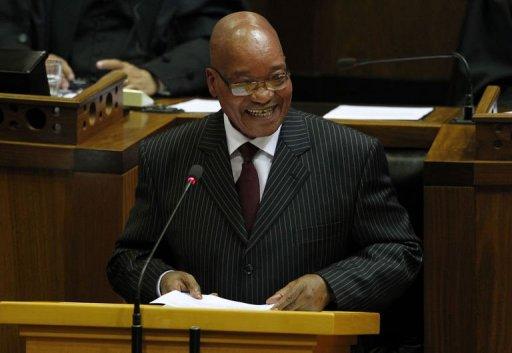 Le président sud-africain Jacob Zuma le 9 février 2012 à Cape Town AFP/Pool Mike Hutchings