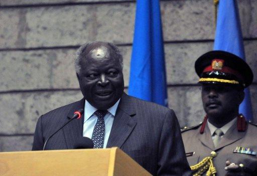 Le président du Kenya Mwai Kibaki le 9 septembre 2011 à Nairobi AFP/Archives Tony Karumba