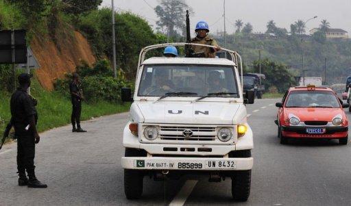 Une patrouille de Casque bleus à Abidjan, en décembre 2010 AFP/Archives Issouf Sanogo