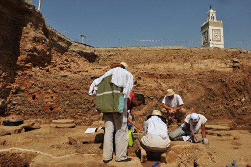 Des fouilles archéologiques sur le site de la Casbah à Alger, le 27 juillet 2009 AFP/Archives Fayez Nureldine