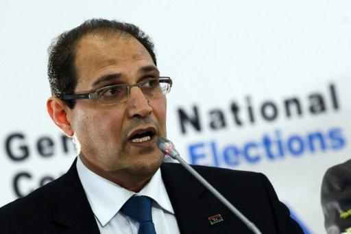 Nuri al-Abbar, responsable de la commission électorale en Libye, lors d'une conférence de presse à Tripoli le 9 juillet 2012 AFP Gianluigi Guercia