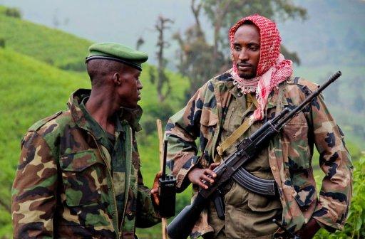 Des mutins du M23 dans les collines du Nord-Kivu le 3 juin 2012 AFP/Archives Melanie Gouby