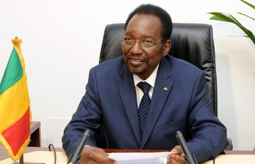 Le président par interim Dioncounda Traoré, le 29 juillet 2012 à Bamako AFP/Archives Habibou Kouyate