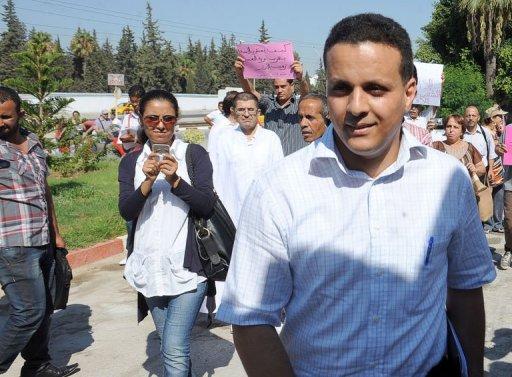 Ayoub Messaoudi, ancien conseiller de Moncef Marzouki, le 22 août 2012 à Tunis AFP Fethi Belaid