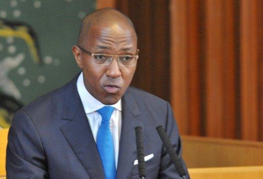 Le Premier ministre sénégalais Abdoul Mbaye devant l'Assemblée nationale le 10 septembre 2012 à Dakar AFP Seyllou Diallo