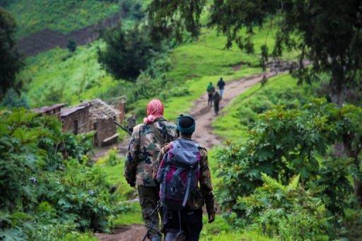 Des rebelles du M23, en juin 2012 à l'est de la République démocratique du Congo (RDC) AFP/Archives Melanie Gouby