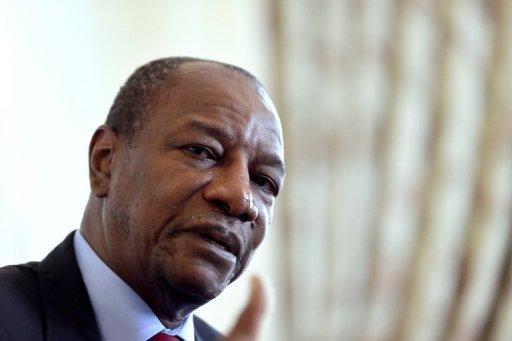 Le président guinéen Alpha Condé le 3 juillet 2012 à Paris AFP/Archives Kenzo Tribouillard