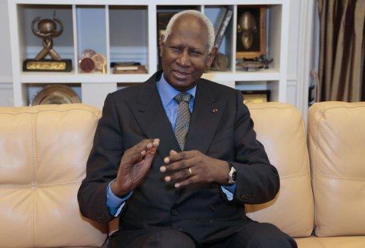 Abdou Diouf, secrétaire général de la Francophonie, lors d'une interview dans son bureau à Paris, le 5 octobre 2012 AFP/Archives Jacques Demarthon