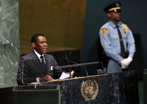 Le président de Guinée équatoriale, Teodoro Obiang Nguema, le 27 septembre 2012 à New York, aux Nations unies AFP/Archives Stan Honda