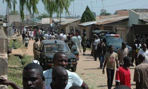 Une rue de Kaduna, dans le nord du Nigeria, le 28 octobre 2012 AFP/Archives