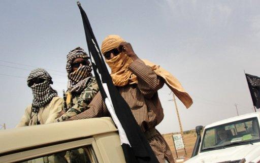 Des soldats du groupe islamiste Mujao (Mouvement pour l'unicité et le jihad en Afrique de l'ouest), le 7 décembre 2012 à Gao au Mali AFP/Archives Romaric Ollo Hien