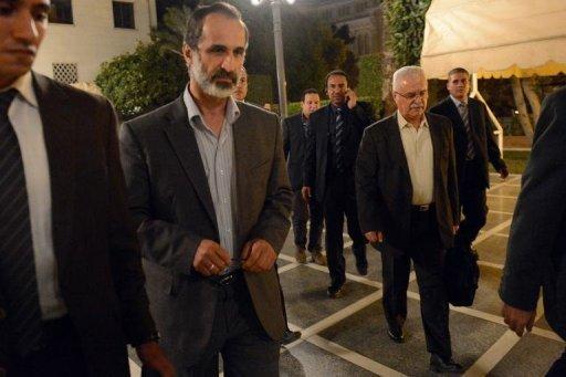 Le chef de la Coalition de l'opposition syrienne, le 12 novembre 2012 à Doha AFP/Archives Khaled Desouki