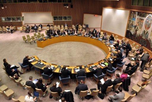 Le Conseil de sécurité de l'ONU, lors d'une réunion le 27 novembre 2012 à New York AFP/Archives Stan Honda