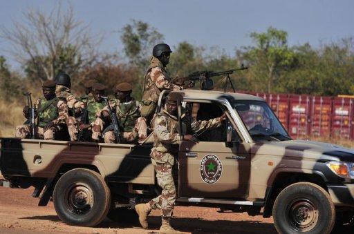 Des soldats maliens, le 16 janvier 2013 à Bamako AFP Issouf Sanogo