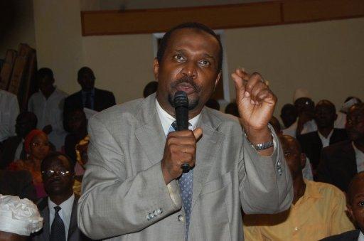 L'opposant guinéen Aboubacar Sylla lors d'un meeting à Conakry, le 26 septembre 2011 AFP/Archives Cellou Binali