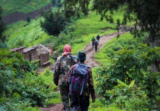 Des rebelles du M23, le 3 juin 2012 dans le Nord-Kivu, en RDC AFP/Archives Melanie Gouby