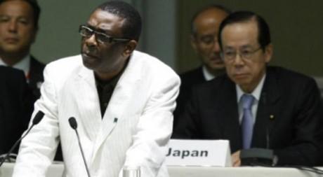 Youssou N'dour donne un discours à Yokohama en mai 2008, REUTERS/Kim Kyung Hoon