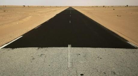 En Mauritanie, sur la route où trois travailleurs humanitaires espagnols avaient été enlevés en 2009. REUTERS/Rafael Marchante