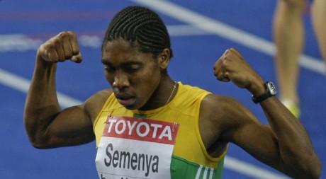 Caster Semenya à l'arrivée du 800 mètres. Tobias Schwarz / Reuters
