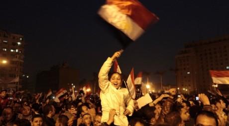 Place Tahrir au Caire après la démission de Moubarak, 11 février 2011, REUTERS/Dylan Martinez
