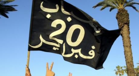 Des manifestants à Rabat, Maroc, le 26 février 2011. REUTERS/Pascal Rossignol