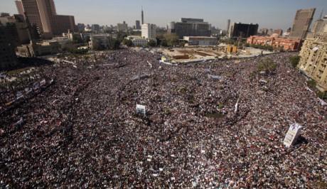 La manifestation de la victoire place Tahrir au Caire Suhaib Salem / Reuters