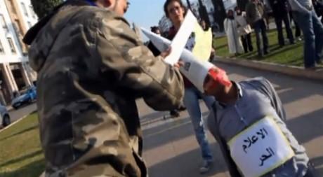 Capture d'écran de la vidéo Freeze 06 mars à Rabat, de maroc20skee (YouTube).