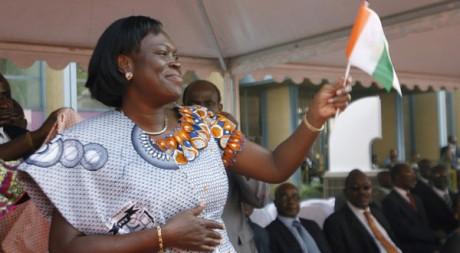 Simone Gbagbo lors des cérémonies du cinquantième anniversaire de l'indépendance de la Côte d'Ivoire. Reuters/Luc Gnago