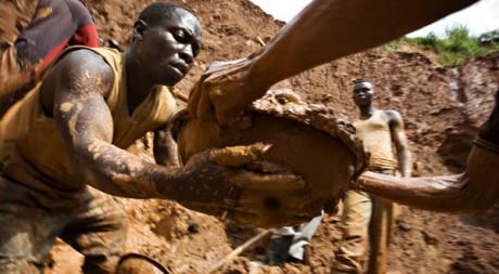 Mine d'or près de Kobu, dans l'Est de la République démocratique du Congo. Reuters/Finbarr O'Reilly