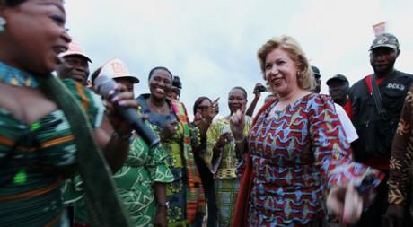 Dominique Ouattara en campagne électorale près d'Abidjan en octobre 2010. Reuters/Thierry Gouegnon