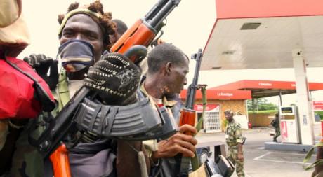 Les militaires des Forces républicaines de Côte d'Ivoire (FRCI) . REUTERS/Luc Gnago
