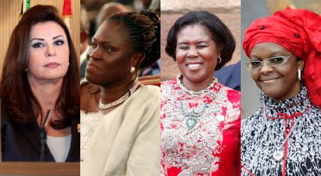 Leïla Trabelsi, Simone Gbagbo, Constancia Obiang, Grace Mugabe. REUTERS/STR New/Gnago/Hutchings/POOL New