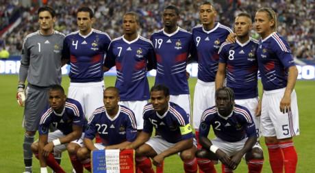 L'équipe de France de football, le 3 septembre 2010. REUTERS/Charles Platiau
