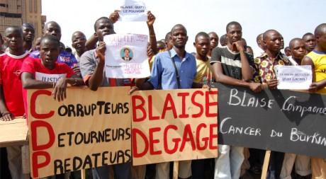 Manifestation du 30 avril à Ouagadougou contre le régime Compaoré. AFP/Ahmed Ouoba