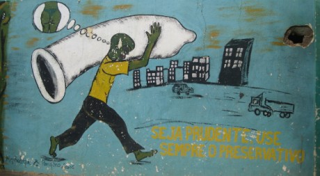 AIDS awareness - condom use (in Chimoio town, Mozambique) by tonrulkens via Flickr CC