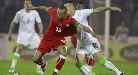 Au match aller à Annaba, l'Algérie a battu le Maroc 1 à 0, le 27 mars 2011. REUTERS/Louafi Larbi