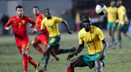 Match amical Cameroun-Macédoine, le 9 février 2011. REUTERS/Ognen Teofilovski