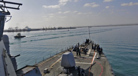 USS Barry arriving in Djibouti (Feb. 10, 2011) by Official US Navy Imagery via FlickrCC