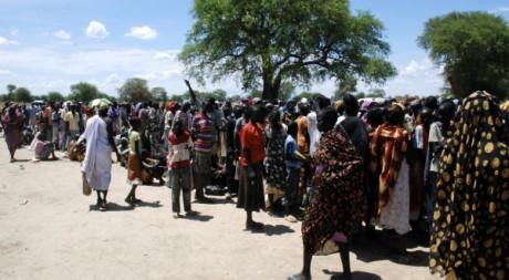 Des exilés soudanais d'Abyei réfugiés à Turalei, le 27 mai 2011. REUTERS/Daniel Wallis1