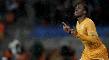 Didier Drogba, Côte d'Ivoire-Portugal, le 15 juin 2010, Afrique du Sud. Balibouse
