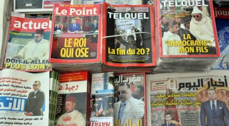 Un kiosque à journaux le 18 juin 2011 à Rabat, au Maroc. AFP PHOTO / ABDELHAK SENNA