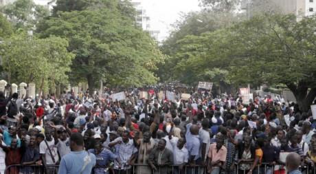 Des manifestants sénégalais à Dakar, le 23 juin 2011 © Moussa Sow/ AFP