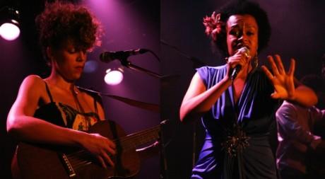 Madjo et Meklit Hadero sur scène durant le Festival Nuits d'Afrique © Stéphanie Trouillard, tous droits réservés