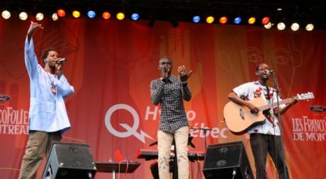Le groupe SMOD sur la scène des Francofolies de Montréal © Stéphanie Trouillard, tous droits réservés