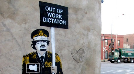OUT OF WORK DICTATOR (Street Art By CRO), by JOE MARINARO via Flickr CC