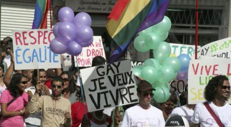 Manifestation pour les droits des homosexuels à Maurice, juin 2007. REUTERS/STR New