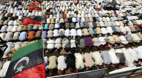 Prière à Benghazi, Libye, le 19 août 2011. REUTERS/Esam Al-Fetori